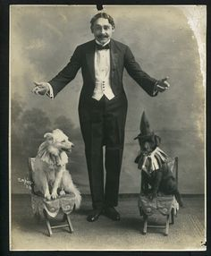 American Eskimo vintage circus photo