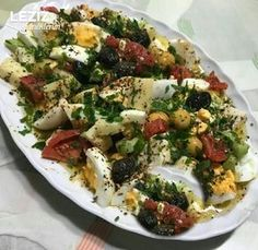 Ensalada de desayuno - My Delicious Food Best Breakfast Recipes, Best Dinner Recipes, Turkish Recipes, Ethnic Recipes, Turkish Breakfast, Salad Recipes, Healthy Recipes, Breakfast Salad, Food And Drink