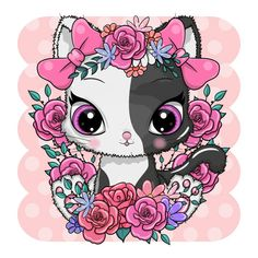 Cute Cartoon Animals, Photo Illustration, Royalty Free Images, This Is Us, Minnie Mouse, Disney Characters, Fictional Characters, Stock Photos, Cats
