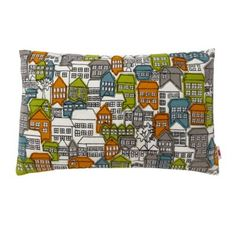 Ben de Lisi Home Designer blue houses cushion- at Debenhams.com