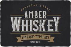 Amber Whiskey Typeface by OlegVoznyy on @creativemarket