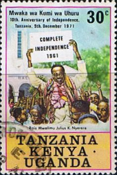 Postage Stamps Kenya Uganda Tanzania 1971 Tanzanian Independence SG 302 Fine Used Scott 238 Other KUT Stamps HERE