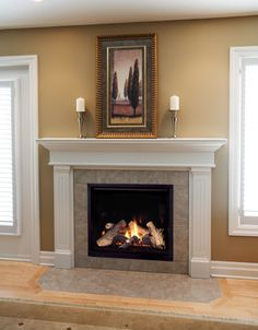 Free Standing Gas Fireplace | Traditional Freestanding Fireplace ...