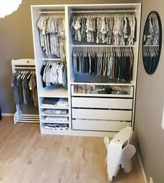 Credit to … Boy wardrobe goals!💙😍 Credit to Source Baby Boy Room Decor, Baby Room Design, Baby Boy Rooms, Girl Room, Ikea Baby Room, Baby Room Furniture, Baby Room Art, Baby Bedroom, Baby Room Closet