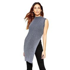 New Women Sweaters And Pullovers Autumn Winter Side Split Long Sweater Dress Vest Striped Tricot Casual Jumpers Pull femme