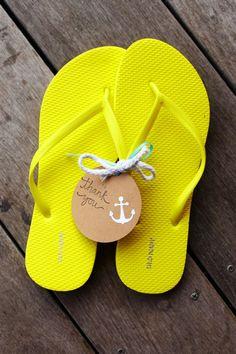 Nautical flip-flop favours