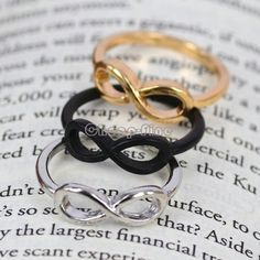 3 Color Mix Fashion Stainless Steel Infinity Ring Bridesmaid Friendship Gifts | eBay