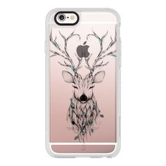 Poetic Deer - iPhone 6s Case,iPhone 6 Case,iPhone 6s Plus Case,iPhone... ($40) ❤ liked on Polyvore featuring accessories, tech accessories, iphone case, iphone cases, iphone cover case, clear iphone cases, apple iphone cases and iphone hard case