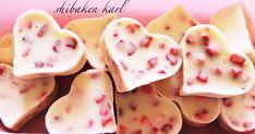 ハート型チョコ☆型崩れしにくいホワイトチョコレート大量いちごバレンタインデー友チョコ子供乾燥苺ストロベリーおしゃれ型抜き