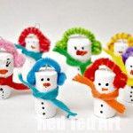 Snowman Crafts - Cork Ornaments for Kids