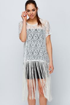 Tassled Lace Blouse @ Everything5pounds.com
