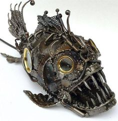 Steampunk Trigger Fish Sculpture
