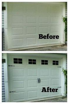 Faux FAKE Garage Door Windows Custom By BigEvilGrinCustoms