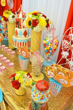 Carnival/ First Birthday Birthday Party Ideas | Photo 9 of 13 | Catch My Party
