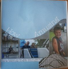 amusement park scrapbook