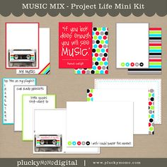 Project Life MUSIC MIX kit by Plucky Momo Digital.