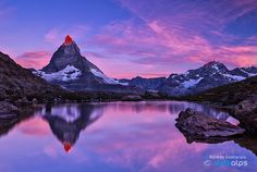 Softly as Into a newborn day by AlfredoCostanzo Matterhorn Valais - Wallis Zermatt alfredocostanzophotograpy alps beautiful canon cervino clickalps Natural Mirrors, Lake Como, Taking Pictures, Alps, Sunrise, Landscape, Day, Nature, Photography
