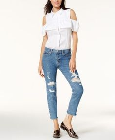 Hudson Jeans Cropped Straight-Leg Jeans - Blue 31