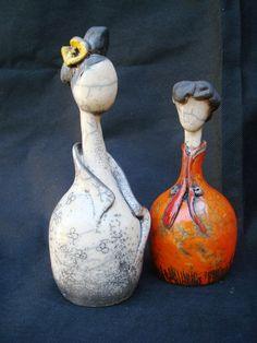 Bonequinhas em raku | Suzan Yoko Uehara