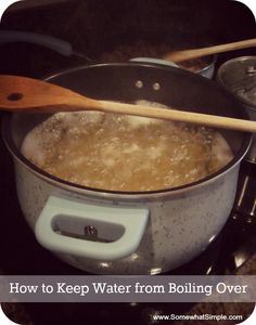 How to keep water from boiling over - does this work for you??