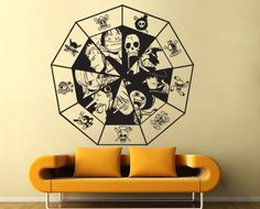 One Piece Chart Sticker Vinyl Wall Decal  WD-0557