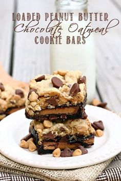 We all love peanut butter and chocolate around here, but I have one child who is a really big fan. So I guess you could say these Loaded Peanut Butter Chocolate Oatmeal Cookie Bars are in his honor.  But there's definitely something for everyone here…..a chocolate brownie layer, an oatmeal chocolate chip cookie layer, and...Read More