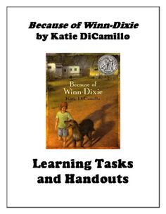 Over 47 pages of student materials for teaching Because of Winn-Dixie by Kate DiCamillo. This resource is common-core aligned. Highlights include:-Comprehension questions by chapter-Summative vocabulary study-Materials for a Socratic Seminar-Choice-based summative projectOver one month of content included!