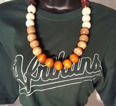 Image of Sweet Like Candy Natural Wood Bead Necklace