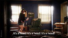 """Who's head?"" 😮"