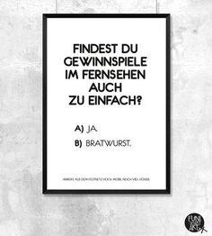 Typo Poster Bratwurst