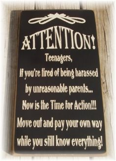 This sign for when your teenagers get a little mouthy: | 25 Products All Sarcastic Parents Need