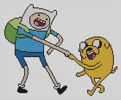 Counted Cross Stitch Pattern Adventure Time Finn and by dueamici