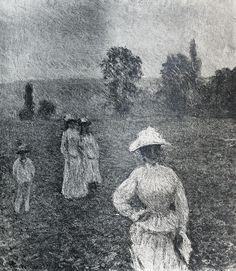 Promenade, temps gris (C Monet - W 1203),1888.