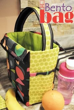 Bento Bag - a lunch bag sewing tutorial                                                                                                                                                                                 More