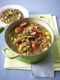 German Lentil Stew Recipe - Lecker - Linseneintopf - this is the link to the english translation of the original post in german