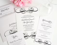 Unique Wedding Invitations in Black and White