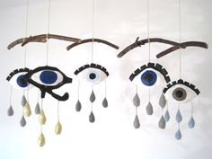 Crying Eye Mobile by jikits on Etsy, $49.00