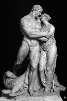 Hercules and Deianira. 1801. Pietro Finelli. terracotta.