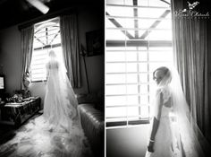 Black and White Veil Shot | Wani Olatunde Photography