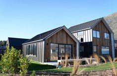 Exterior, cedar, tray cladding, architectural home nz, gable, modern house, nz