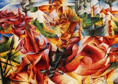 Umberto Boccioni - Elastic  Boccioni was an Italian Futurists painter and sculptor. Like other Futurists, his work centered on the portrayal of movement (dynamism), speed, and technology.