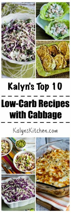 I love, love, love cabbage and it always goes on sale this time of year, so here are Kalyn's Top Ten Low-Carb Recipes with Cabbage. Hope you enjoy trying some of them! [found on KalynsKitchen.com]