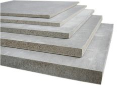 CEMENT BONDED PARTICLE BOARD consisting of wood shavings of conifers, Portland cement, mineral substances, and water