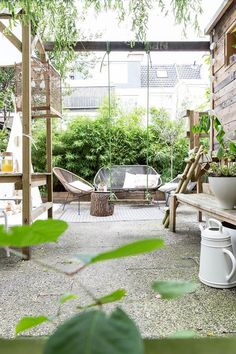 interiors, interni, appartamento, nordic style, nordic design, terrace, garden, green