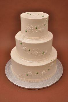 Bethel Bakery Wedding Cake - Olivia with Buttercream Shamrocks