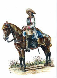 Maistre du Régiment Etranger Cavalerie, 1690. Peinture de notre confrère Bernard BOUCHET. Foreign Cavalry Regiment (1690). Painting by our fellow-member Bernard BOUCHET.