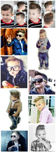 Kids/Boys hair cut and style inspiration - for the special little man in your life, keeping it clean and stylish ! Right up our alley Lil Boy, Little Boys, Baby Boy Fashion, Kids Fashion, Little Boy Hairstyles, Kids Cuts, Boy Cuts, Men's Cuts, Outfits Niños