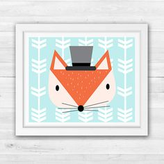 Fox Nursery Art by TLCSquared on Etsy