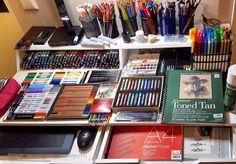 Art Studio Room, Art Studio Design, Art Studio At Home, Home Art, Art Supplies Storage, Art Storage, Art Studio Organization, Study Room Decor, Paint Photography