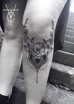 Under Knee Tattoo